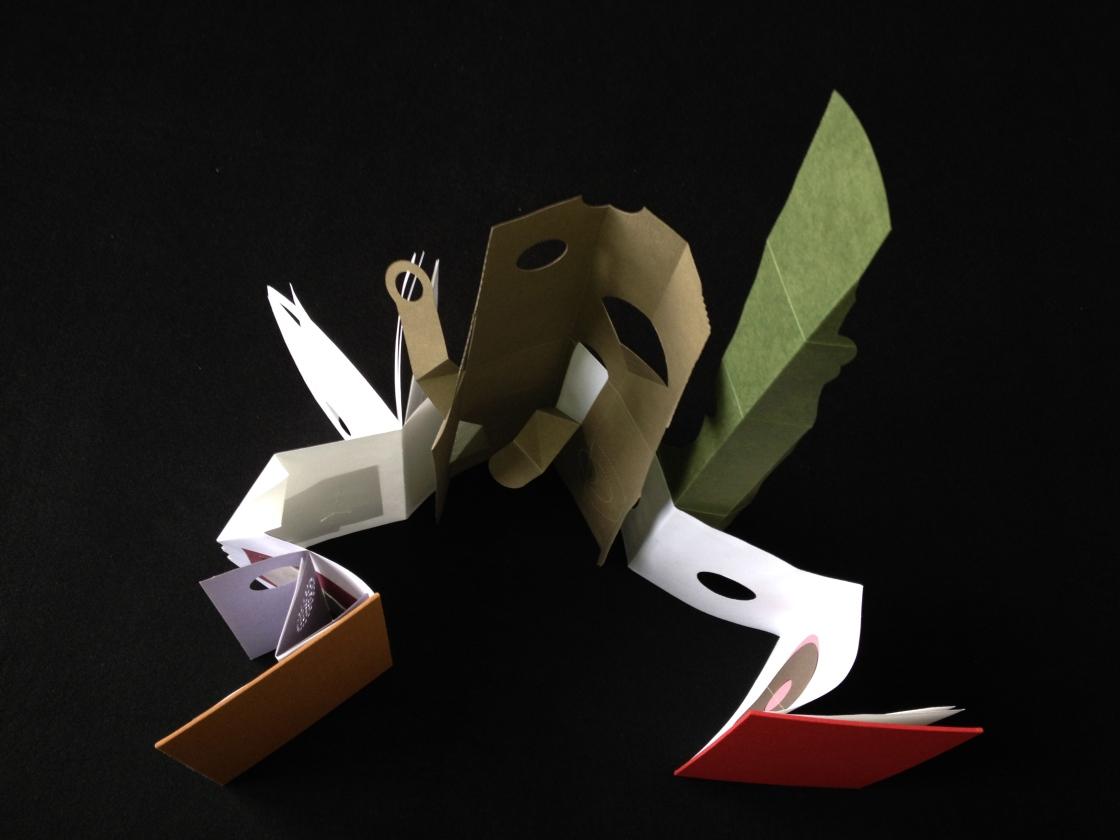 Guy Begbie Book Workshops Sculptural Concertina Hardback Book 1